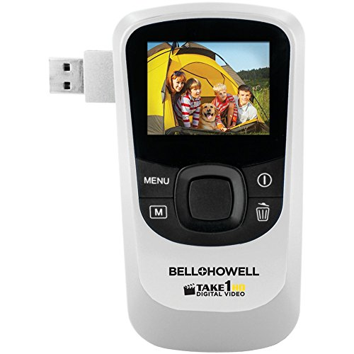 BELL+HOWELL T10HD-W 5.0 Megapixel 1080p Take1HD Digital Video Camcorder wtih Flip-out USB (White) electronic consumer by Bell + Howell