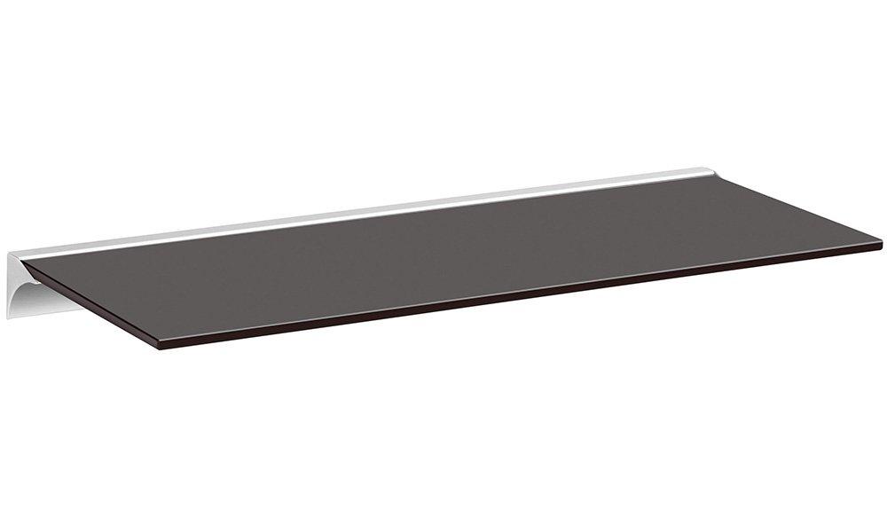 4 Dekore 60x15cm weiß//silber REGALRAUM 5 Größen Glasregal // Wandregal Square+Rail