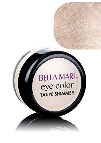 (Bella Mari Natural Mineral Eyeshadow, Taupe (Shimmer); 0.1oz )