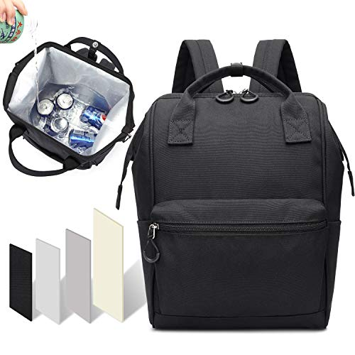 Thinksea Cooler Backpack Lightweight Insulated Large Opening Backpack Cooler Leak-Proof Soft Cooler Bag Large Capacity for Men Women to Picnics, Camping, Hiking, Beach (Black) (Cooler Backpack Black)