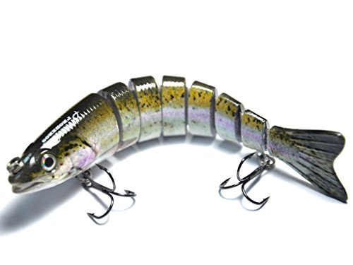 Supertrip 5/8-Ounce 5-Inch 8 Segment Swimbait Lures Crankbaits Baits Hard Bait Fishing Lures Colour Purple (Saltwater Fishing Spoons compare prices)