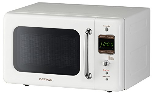 Daewoo KOR-7LREW Retro Countertop Microwave Oven 0.7 Cu. Ft, 700W | Cream White by Daewoo (Image #1)