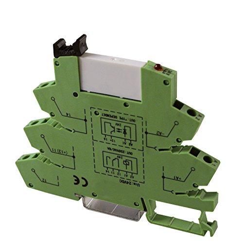 ASI ASI328047 ASIUDK-PLC-RJI120Vac//dcE Pluggable SPDT Relay with Low Profile DIN Rail Mount Spring Clamp Terminal Base 6 amp 120 VAC//DC Coil 250 VAC