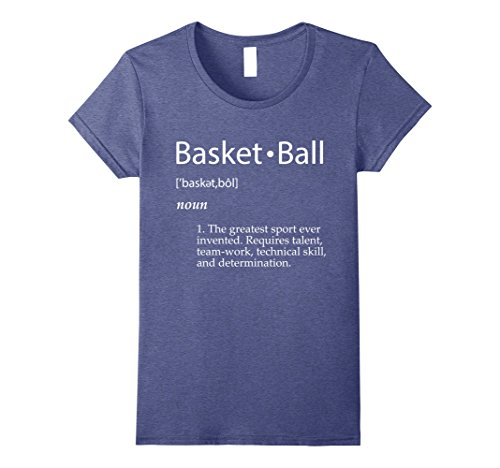 Womens Basketball Definition T-Shirt - Men Women Youth Sizes Colors Large Heather Blue