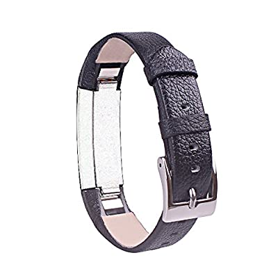 Newest Genuine Leather With Watch Buckle Design Replacement Watch Bands Wristband Bracelet Strap for Fitbit Alta (No Tracker)