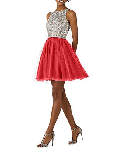 Tanzenkleider Tuell Rot Silber Abendkleider Cocktailkleider Pailletten Damen Promkleider Kurzes Hell aus Charmant HCq0wzPP