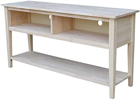 International Concepts Unfinished Entertainment TV Stand, 60-Inch, Unfinished