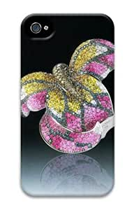 Iphone 4 4s 3D PC Hard Shell Case Golden Wing by Sallylotus