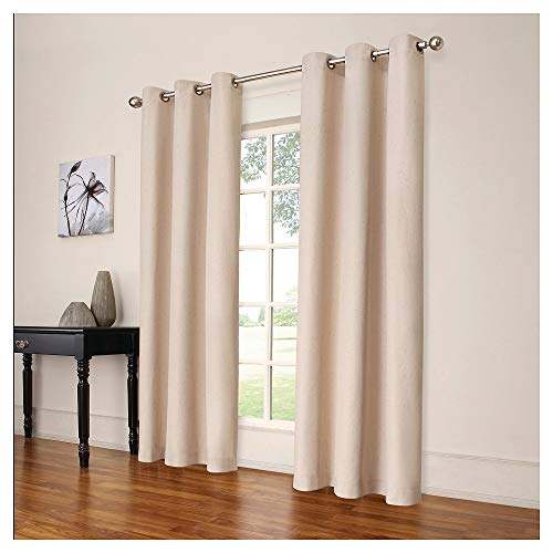Eclipse Windsor Light-blocking Curtain Panel Cream (42x84)