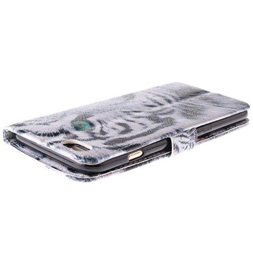 2015New Fashion Étui portefeuille pour Apple iPhone 6(11,9cm), yaobai élégant [Fleur] magnétique en cuir PU Portefeuille avec fermeture [] Folio Stand Étui Housse Coque Sport Extérieur Protecteur C