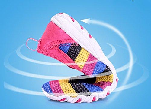 Damen 44 Casual Damen Atmungsaktives Trainer Rutschfeste Gaatpot 36 Mesh Laufsportschuhe Sneakers Sommer Sohle Rose Größe Gummi ROw5ndqC