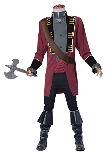 California Costumes Men's Sleepy Hollow Headless Horseman Costume, Red/Gray, Small