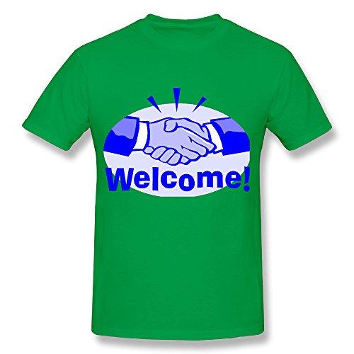 SNOWANG Men's Welcome T-shirt 3X ()