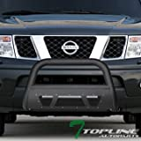 2011 nissan frontier grill guard - Topline Autopart Matte Black Studded Mesh Bull Bar Brush Push Front Bumper Grill Grille Guard With Skid Plate For 05-17 Nissan Frontier ; 05-07 Pathfinder ; 05-15 Xterra