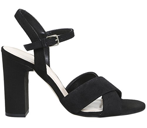 Hazel Sandals Suede Black Two Part Office RzCwqq