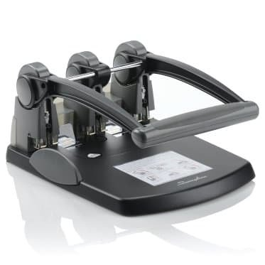 Swingline 74194 Extra High-Capacity Three-Hole Punch, 0.28 in. Holes - Black & Gray by Swingline