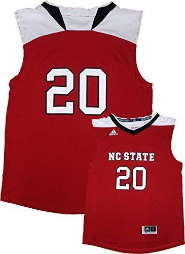 North Carolina State Wolfpack #20 Red Adidas Youth Replica Basketball Jersey (X-Large 18/20)