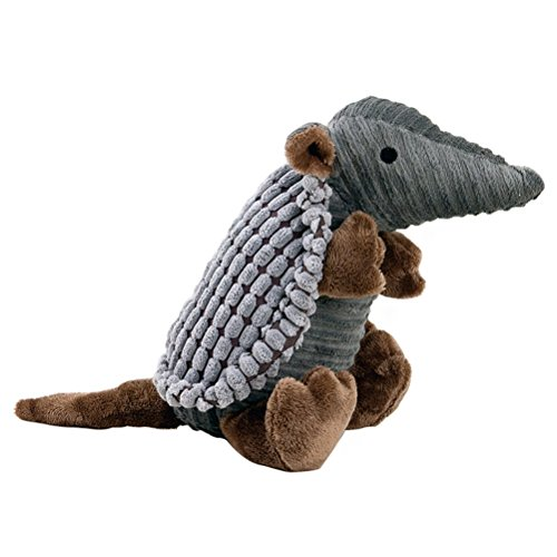 lovely UEETEK Pet Products Plush Toys Dog Chew Toys Pet Cats Cute Biting Sound Squeaky Toys Armadillo Design