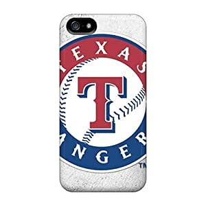 Rosesea Custom Personalized Back Cases Covers For Iphone 5 5s - Texas Rangers