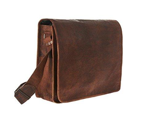 pranjals house 15 inch Leather Laptop Messenger Bag