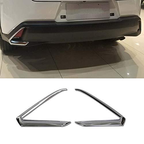 Beautost Fit for Lexus UX 200 250h UX200 UX250h 2019 Chrome Rear Fog Light Lamp Cover Trims Chrome Lexus Rear Lights