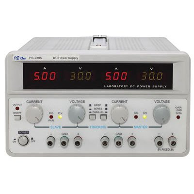 "Uniteq PS-2303 Triple Output AC/DC Switching Benchtop Power Supply with Tracking Function, 9.6"" W x 13.6"" D x 5.5"" H"