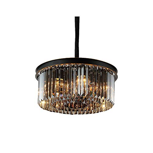 Windsor Home Deco WH-63400B Simple Modern Crystal Chandeliers, Crystal Round Pendant Lamp, Pendant Lights for Dining Room Lighting