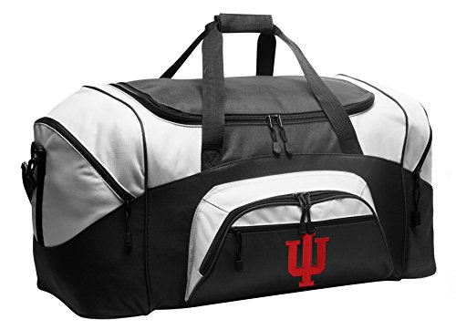 Large IU Duffel Bag Indiana University Gym Bags or Suitcase by Broad Bay