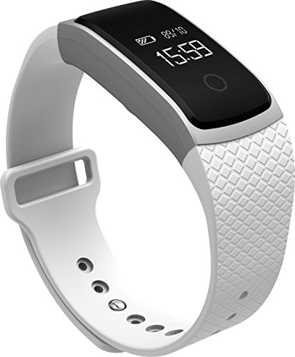 Lincass Smart Heart Rate Monitor Bracelet Fitness Tracker Smart Wristband with Heart Rate Monitor Blood Pressure Blood Oxygen Monitor 2016 New Smart Watch Blood Pressure Smart Bracelet (White)