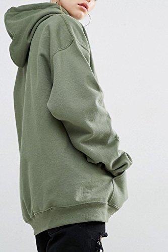 Hoodies Capuche La Femmes Vosujotis Longues Manches Taille Plus Vert À Pull n7O78qXY