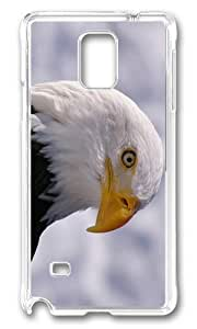 MOKSHOP Adorable eagle eye Hard Case Protective Shell Cell Phone Cover For Samsung Galaxy Note 4 - PC Transparent