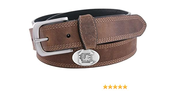 Zeppelin Products Inc NCAA South Carolina Fighting Gamecocks Tip Leather Concho Belt