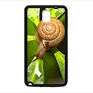 Custom beautiful funny snail pattern Samsung Galaxy Note 3 Plastic and TPU Durable Case