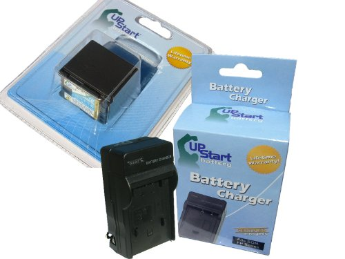 UpStart Battery BP-819 Replacement Battery and Charger for Canon VIXIA HF10 HF100 HF11 HG20 HG21 HG30 HF S10 HF S100 HF S11 HF20 HF21 HF200 Camcorders