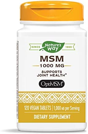 Natures Way MSM 1000mg Tablets