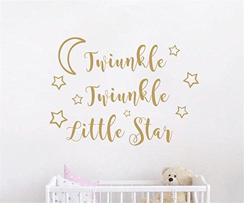 JOYRESIDE Twinkle Twinkle Little Star Quote Wall decal Art V
