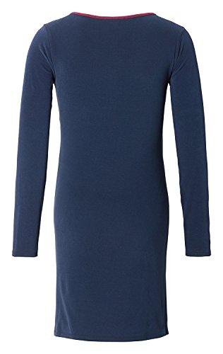 Esprit Maternity Umstandsmode Damen Still-Nachthemd mit langer Knopfleiste W1784269-L / Night Blue (486)