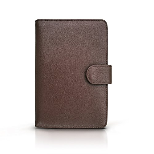 RFID Blocking Leather Travel Passport Holder With Snap, Bifold Wallet For Men And Women, Brown by Travel Navigator (Image #5)