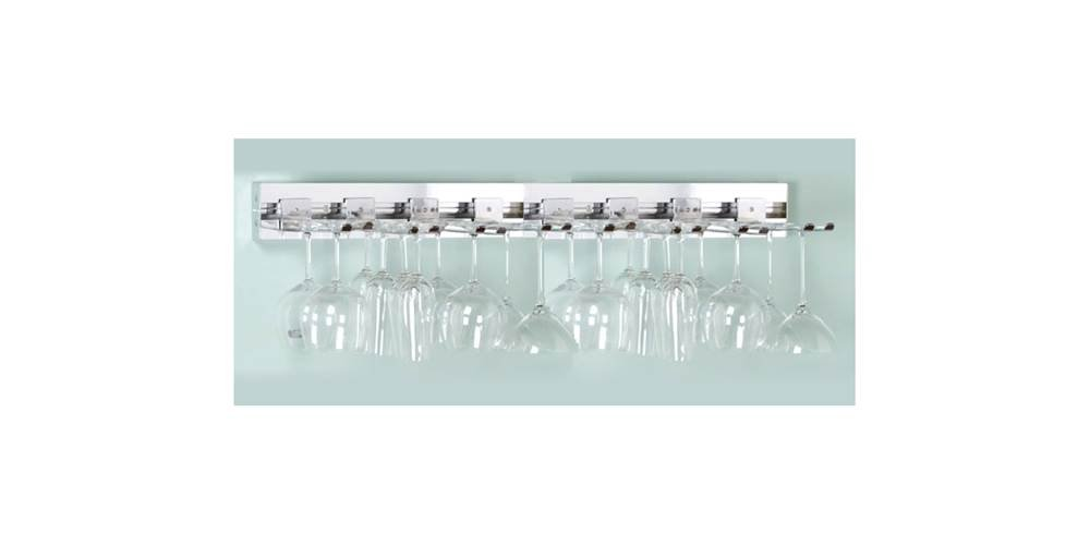 36 in. Wall Mounted Wine Glass Rack (Polished Chrome) by Pegrail