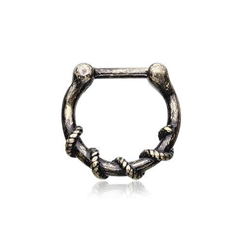 Vintage Rustica Lasca Septum Clicker Ring