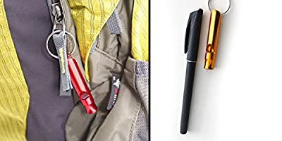 1pcs Practical Aluminum Alloy Long Whistle with Metal Ring for Camping Hiking Outdoor Survival by Generic