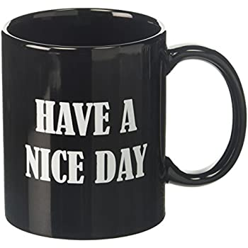 Generic Ceramic Have A Nice Day Middle Finger Funny 10oz Cup Coffee Mug, Black