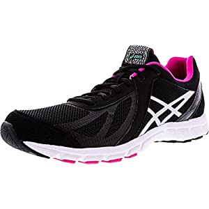 ASICS Women's Womens GEL-Frequency 3 Athletic Shoe, black/silver/pink, 6.5 D US