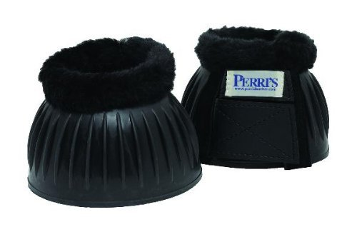 Perri's Double Velcro Fleece Bell Boots, Black, X-Large