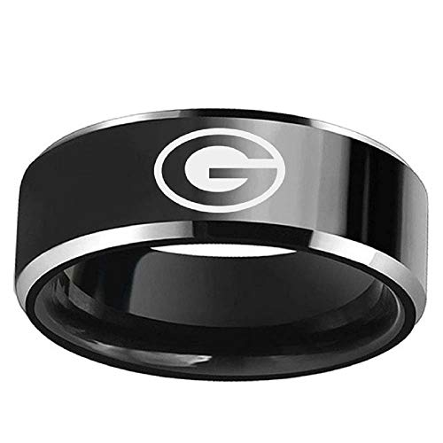 FlyStarJewelry Green Bay Packers Football Black Titanium for sale  Delivered anywhere in USA