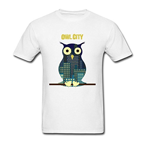 Price comparison product image Tommery Men's Owl City Vector Short Cotton T Shirt