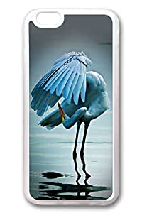 iPhone 6 Cases, Personalized Protective Case for New iPhone 6 Soft TPU Clear Edge Red Crowned Crane