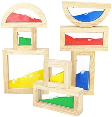 DYNWAVE 8-ピース/個木製サンドブロックセットベビー幼児スタッキングブロック玩具