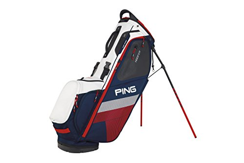 Cheap PING 2018 Hoofer Carry Stand Golf Bag, Navy/White/Red