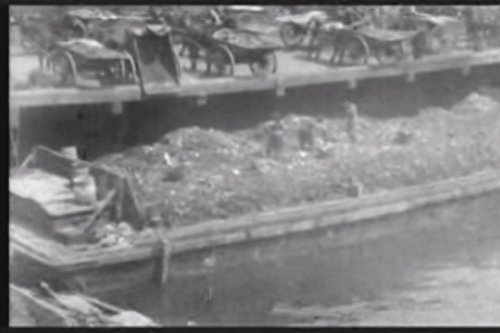 New York City dumping wharf